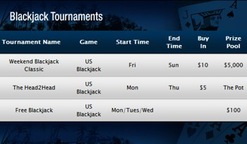 weekly blackjack tournaments EH